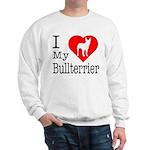 I Love My Bullterrier Sweatshirt