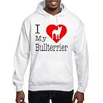 I Love My Bullterrier Hooded Sweatshirt