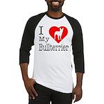I Love My Bullterrier Baseball Jersey
