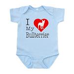 I Love My Bullterrier Infant Bodysuit