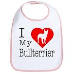 I Love My Bullterrier Bib