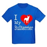 I Love My Bullterrier Kids Dark T-Shirt