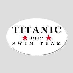 Titanic 1912 Swim Team 22x14 Oval Wall Peel