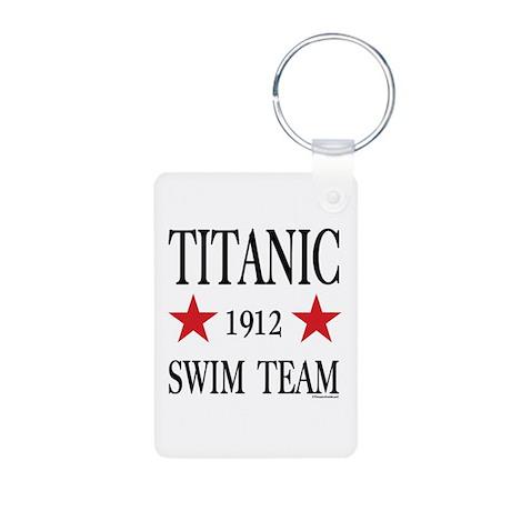 Titanic 1912 Swim Team Aluminum Photo Keychain