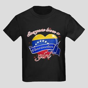 I heart Venezuelan Designs Kids Dark T-Shirt