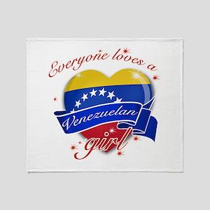I heart Venezuelan Designs Throw Blanket