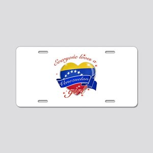I heart Venezuelan Designs Aluminum License Plate