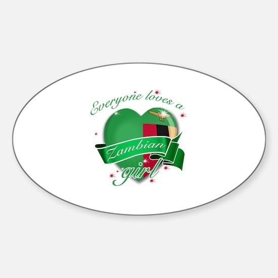 I heart Zambian Designs Sticker (Oval)