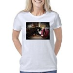 Kitten and Red Hat Women's Classic T-Shirt