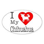 I Love My Chihuahua Sticker (Oval 10 pk)
