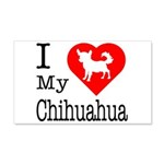I Love My Chihuahua 22x14 Wall Peel