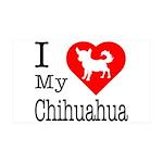 I Love My Chihuahua 38.5 x 24.5 Wall Peel