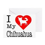 I Love My Chihuahua Greeting Cards (Pk of 20)
