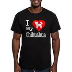 I Love My Chihuahua Men's Fitted T-Shirt (dark)