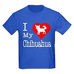I Love My Chihuahua Kids Dark T-Shirt