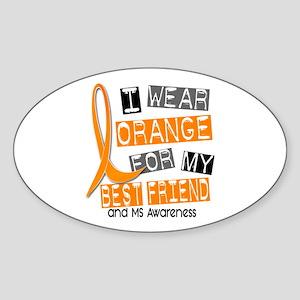I Wear Orange 37 MS Sticker (Oval)