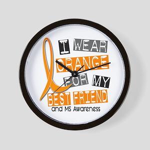 I Wear Orange 37 MS Wall Clock