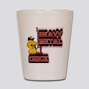 Heavy Metal Chick Shot Glass