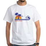 Costa rica Mens Classic White T-Shirts