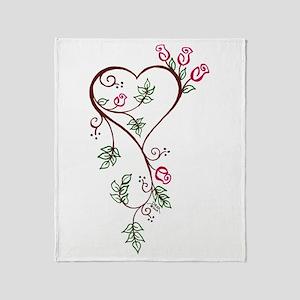 Love In Bloom Throw Blanket