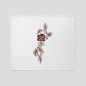 Elegant Rose Throw Blanket