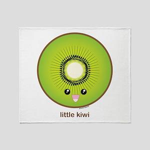 Kawaii Kiwi Throw Blanket