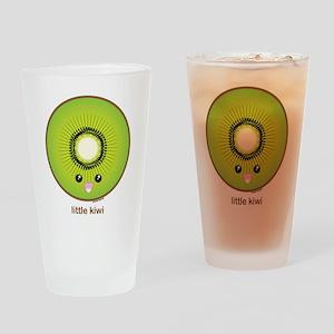 Kawaii Kiwi Drinking Glass