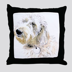Butters the Labradoodle Throw Pillow