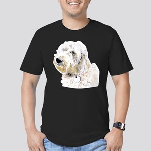 Butters the Labradoodl Men's Fitted T-Shirt (dark)