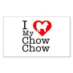 I Love My Chow Chow Sticker (Rectangle 10 pk)