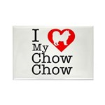 I Love My Chow Chow Rectangle Magnet (100 pack)