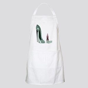 Green Stiletto Shoe and Lipst Apron