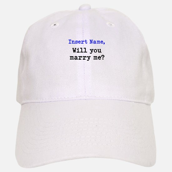 Personalized Marriage Proposa Baseball Baseball Cap