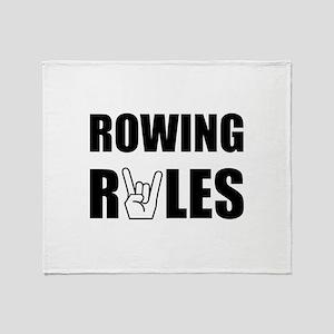 Rowing Rules Throw Blanket