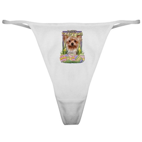 Easter Egg Cookies - Yorkie Classic Thong