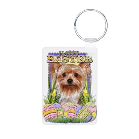 Easter Egg Cookies - Yorkie Aluminum Photo Keychai