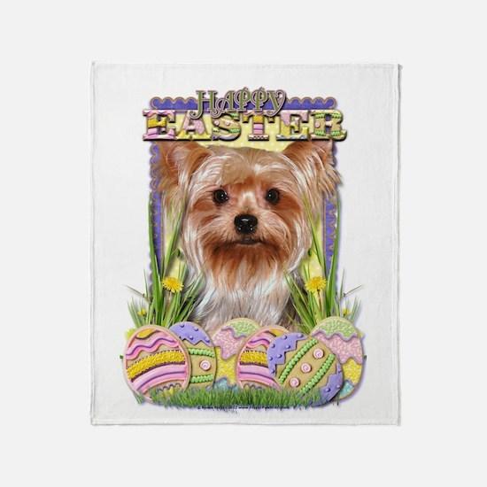 Easter Egg Cookies - Yorkie Throw Blanket