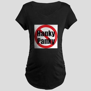 No Hanky Panky Maternity Dark T-Shirt