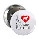 I Love My Cocker Spaniel 2.25
