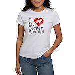 I Love My Cocker Spaniel Women's T-Shirt