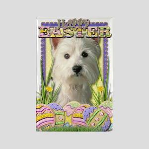 Easter Egg Cookies - Westie Rectangle Magnet