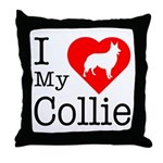 I Love My Collie Throw Pillow
