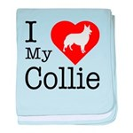 I Love My Collie baby blanket