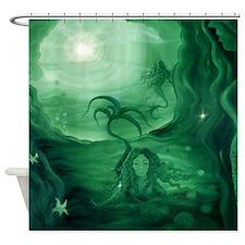 Mermaid Cave Shower Curtain