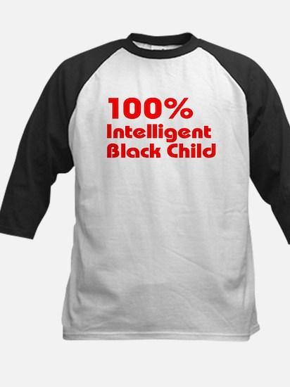 100% Intelligent Black Child Kids Baseball Jersey