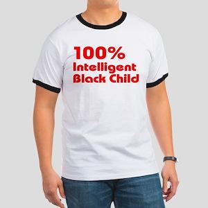 100% Intelligent Black Child Ringer T
