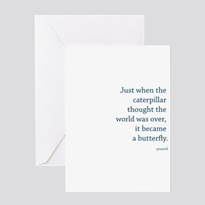"""""""Caterpillar Proverb"""" Greeting Card"""