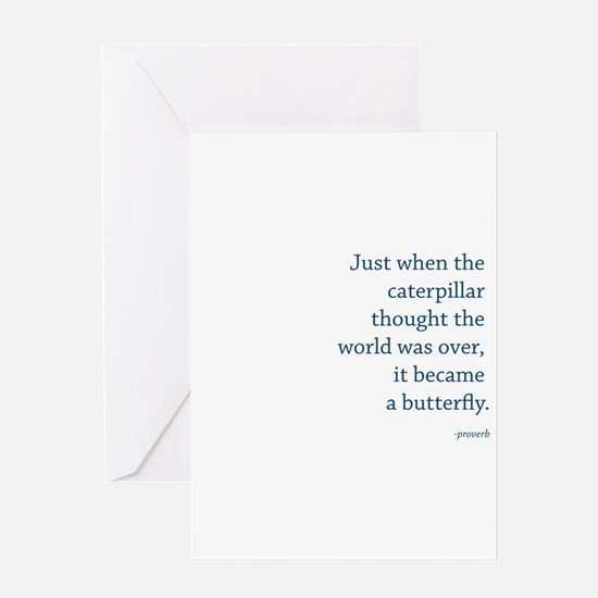 """Caterpillar Proverb"" Greeting Card"