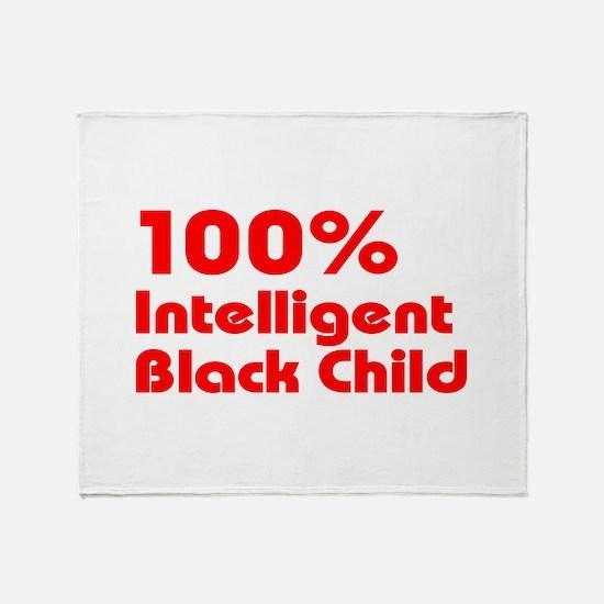 100% Intelligent Black Child Throw Blanket