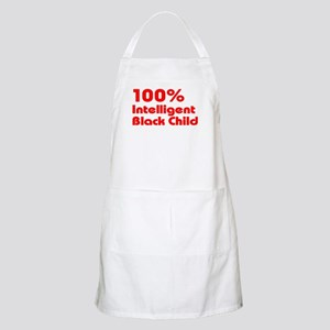 100% Intelligent Black Child Apron